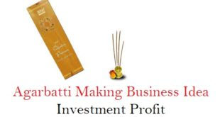 Agarbatti (Incense Sticks Manufacturing ) Making Business Idea Investment Profit