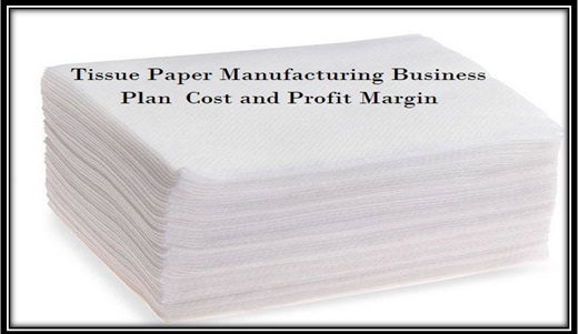 Tissue Paper (Paper Napkin Making) Manufacturing Business Plan Cost and Profit Margin